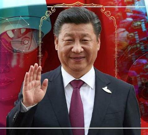 """Landet, partiet, lederen Xi Jinping"""