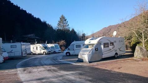 Innen Parkplatz für Wohnmobil in La Bresse