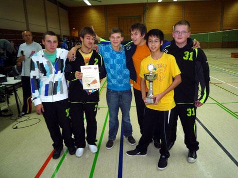 Baden - Württembergischer Meister 2009 (v.l.n.r.): Tim Nagel, Oliver Werner, Louis Westermann, Danny Krimmel, Tu Nguyen u. Dennis Wipper