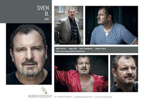Sedcard Sven B. Wunschgesicht