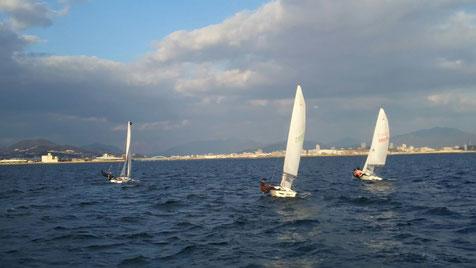 初セーリング 広島 ヨット ディンギー 広島大学 広島大学体育会ヨット部