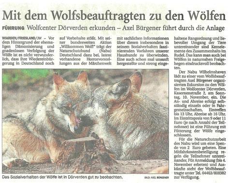 Jeversches Wochenblatt 23.10.2013