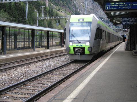 Lötschberger in Goppenstein