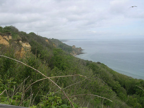 Die außerordentlich gute Lage der Batterie für die Überwachung des gesamten Küstenabschnittes.