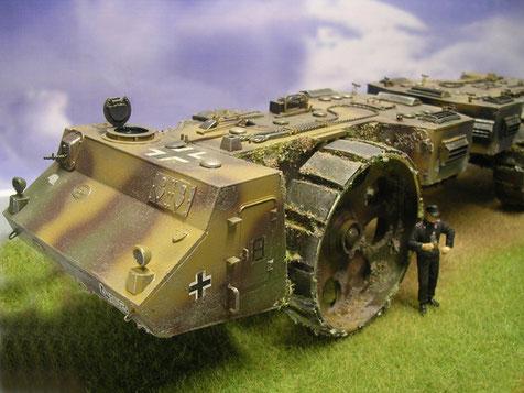 PzKw II-Kommandatenluken auf dem gepanzerten Bugbereich