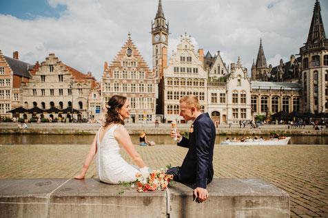 Elopement in België boho bruid trouwfotograaf