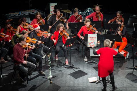 Ecole de musique EMC à Crolles - Grésivaudan : concert de l'orchestre Les Encordés