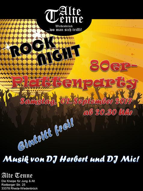 Rocknight - 80er-Plattenparty - Musik von DJ Herbert und DJ Mic