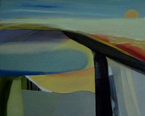IMIGRATION   100 x 80 cm - Acryl - houtskool op doek