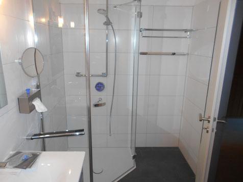 Eine maßgefertigte Duschkabine