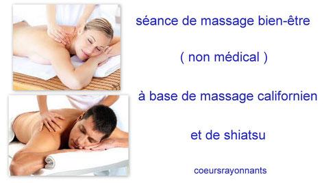 séance de massage bien être avec coeursrayonnants