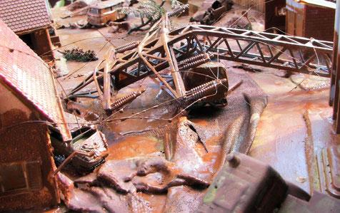 Bild vom Jahrhunderthochwasser 2002, das weite Teile des heutigen Landkreises verwüstete