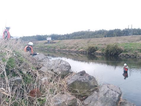 流量観測,定期流量観測,河川,水文観測,鹿児島,肝属川,川内川,一級河川,国土交通省