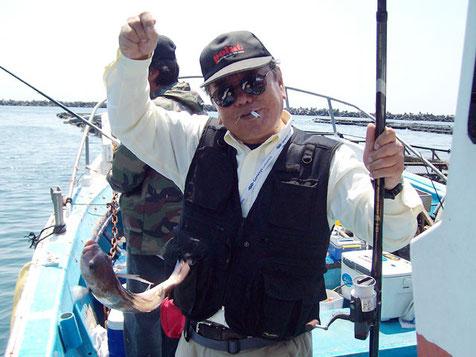 ベテランのMさん。船頭の話相手、おつかれでした。終盤の追い上げがすごかったです。