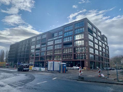 Neubau auf dem ehemaligen Güterbahnhof an der Schanzenstraße.