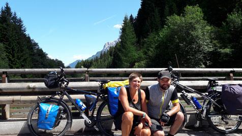 -im August kurz vor Canazei (Region Dolomiten)