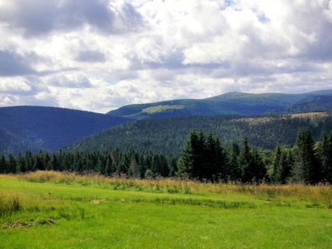 Vue sur le Honeck, deuxième sommet des Vosges