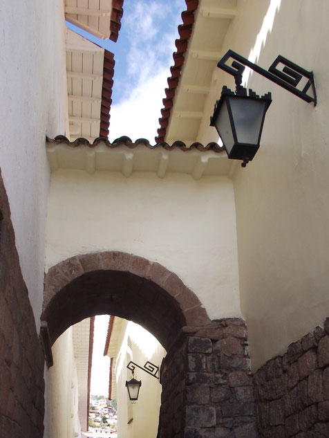 architecture Cusco Peru alley