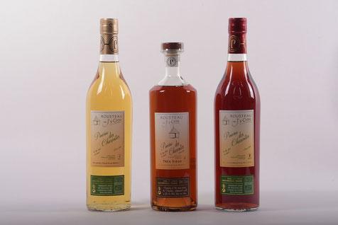 Gamme du Pineau des Charentes Bio du domaine J'y Crois