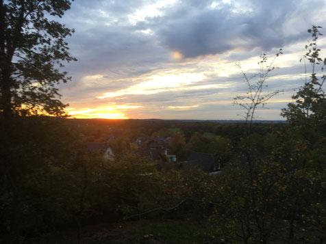Sonnenuntergang bei Kleve