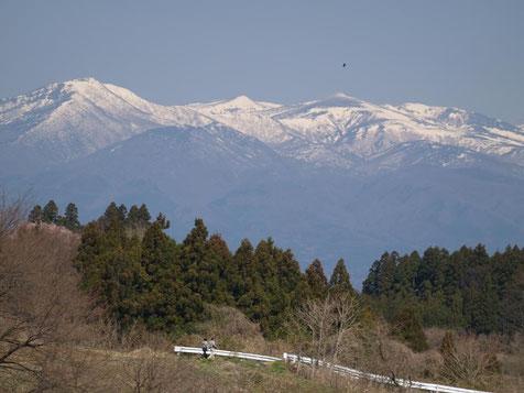 左=和尚山 右=安達太良山(トンビ?の下)