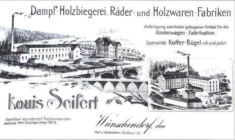 Bild: Wünschendorf Seifertmühle Reklame um 1910