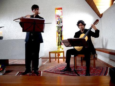Konzert Bruderklausen - Kapelle in Frauenfeld von Martin Huber, Flöte / Edmauro de Oliveira, Gitarre