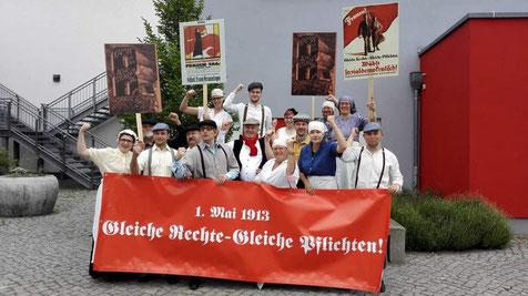 Kostümaktion des Ortsverein Oranienburg