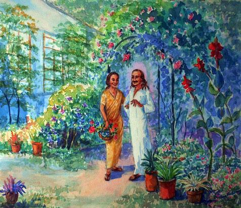 Meher & Mehera in Meherazad Garden