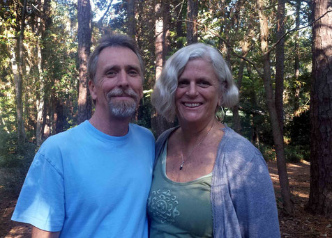 Lisa with Mark Trichka at the Meher Spiritual Center, Myrtle Beach - Oct.2013