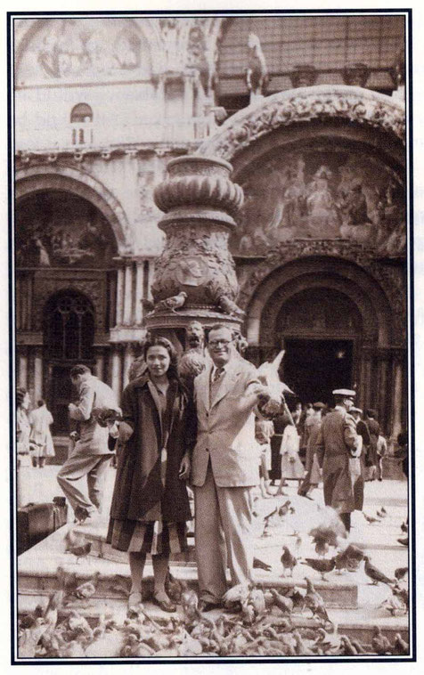 "Nariman & Arnavaz at St. Marks Square- photo courtesy of Arnavaz's book ""Gift of God"""