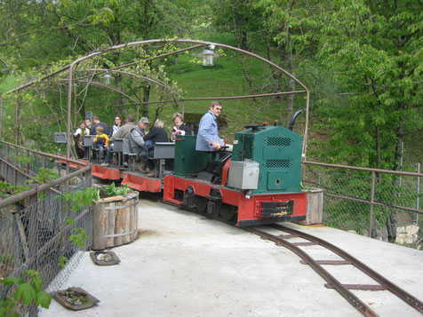 Fahrt mit der Bergwerksbahn
