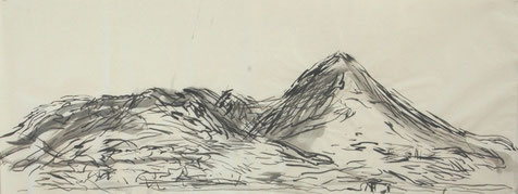BEI NYONS   2010  Chinatusche auf Papier   35 x 89,5 cm