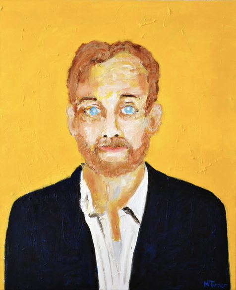 Bill Murray, oil on canvas, 28.5 by 23.5 in.