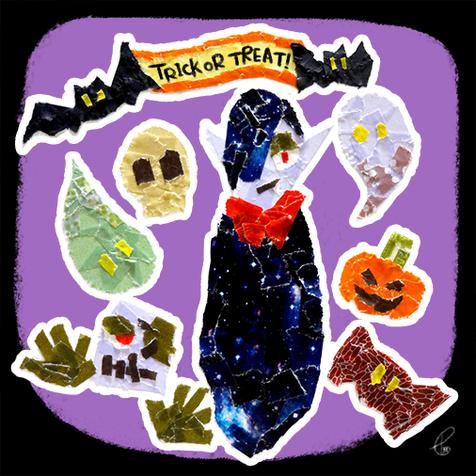 Trick or Treat! /マスキングテープ PhotoshopCS6 2015,10.31