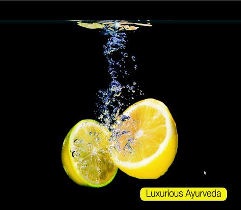 die Frische der Zitrone