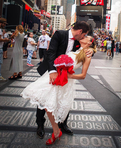 Matrimonio a New York Times Square