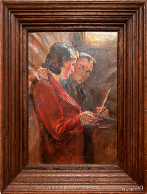 Catalog of Works N° 71 - Self-Portrait with a Lady, 1933