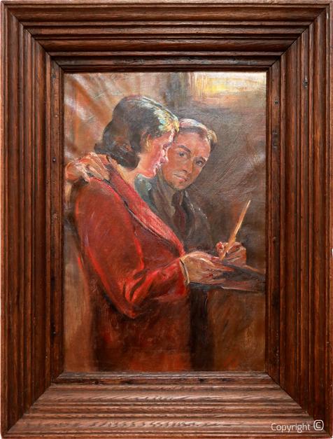 Werkverzeichnis N° 71 - Selbstbildnis mit Dame, 1933