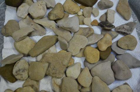 gesammelte Steine aus Schorndorf