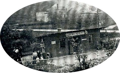 Frühes Foto vom Haltepunkt Eibenberg-Kemtau Quelle: Bildarchiv der Gemeinde Burkhardtsdorf