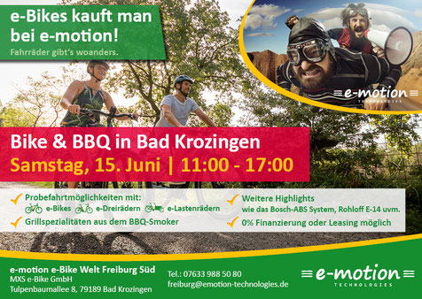 Einladung zum Bike & BBQ Event am 15. Juni in Bad Krozingen