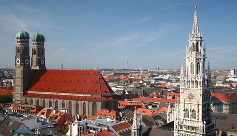 Munich cityscape, Munich, Germany