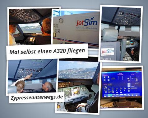 Mal selbst einen A320 fliegen - JetSim in Berlin