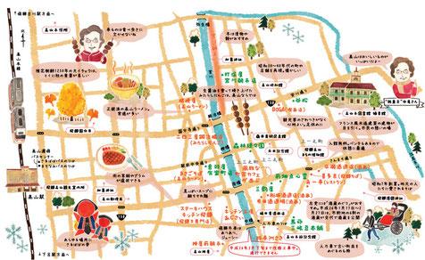 高山イラストマップ