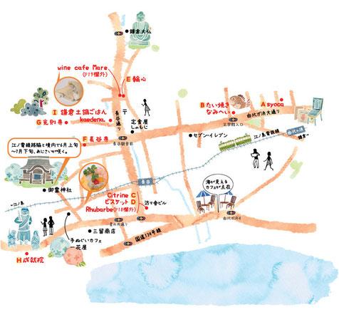 長谷イラストマップ
