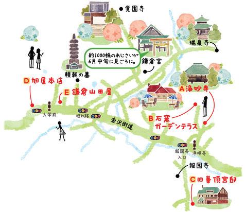 鎌倉イラストマップ
