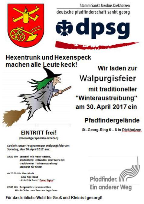 Plakat Walpurgisfeier