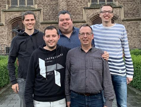 Der neue Vorstand der TTF Remagen (hinten v. l. Daniel Jacquemien, Robert Willach, Tobias Dörr; vorne v. l. Kevin Müller & Jürgen Dörr)