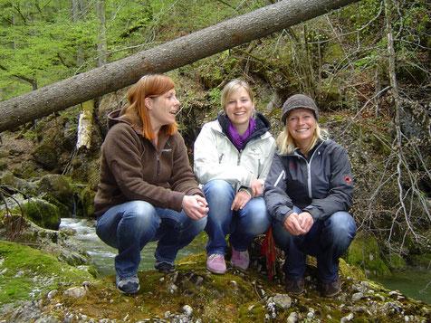 Das Team der Naturschule Abraxas, Gesine, Christine und Bettina